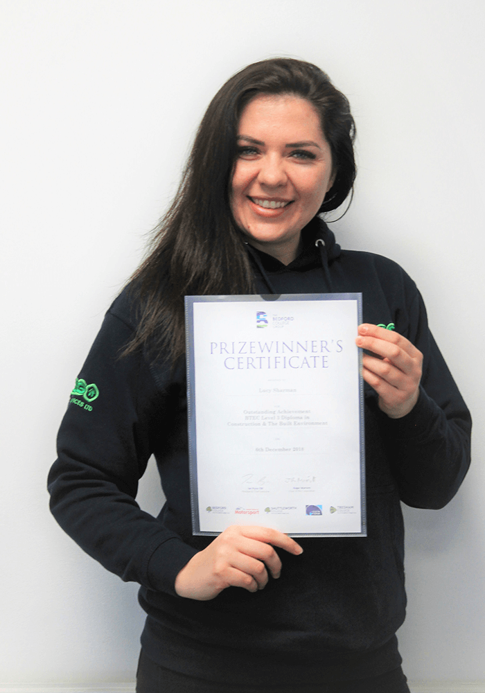 Lucy passes her BTEC Level 4 HNC with Distinction